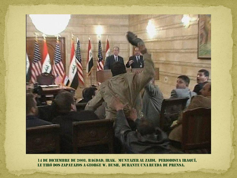 14 de diciembre de 2008. Bagdad, Irak