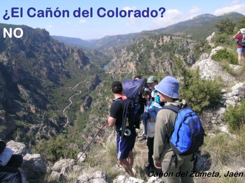 ¿El Cañón del Colorado NO Cañón del Zumeta, Jaén