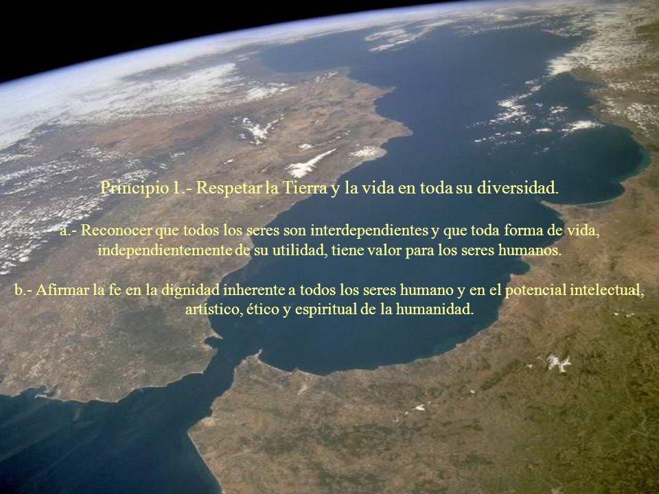 Principio 1.- Respetar la Tierra y la vida en toda su diversidad.