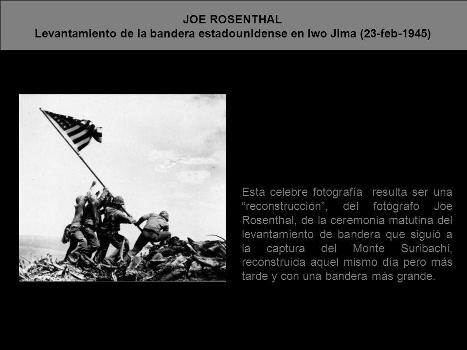 Levantamiento de la bandera estadounidense en Iwo Jima (23-feb-1945)
