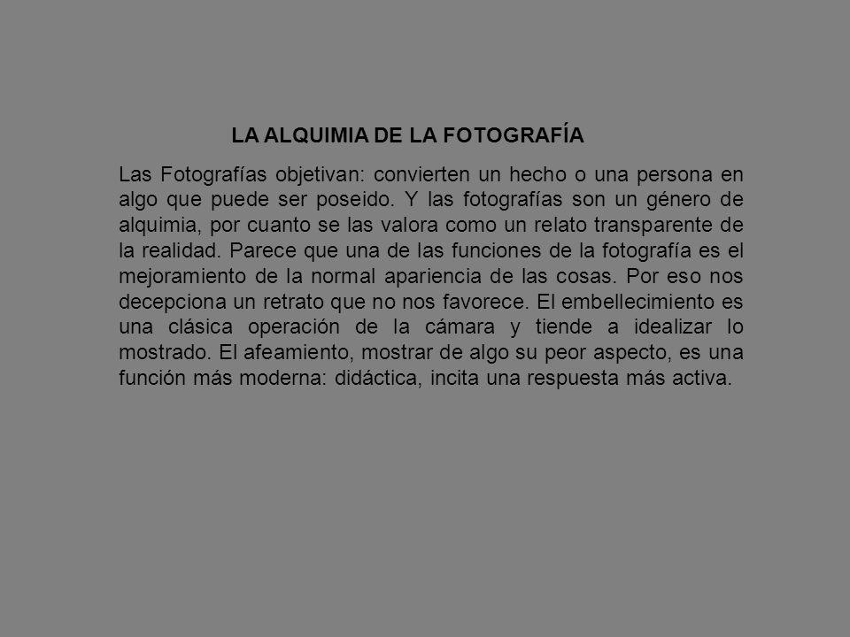 LA ALQUIMIA DE LA FOTOGRAFÍA
