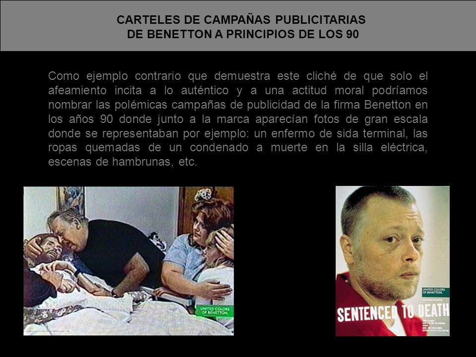 CARTELES DE CAMPAÑAS PUBLICITARIAS DE BENETTON A PRINCIPIOS DE LOS 90
