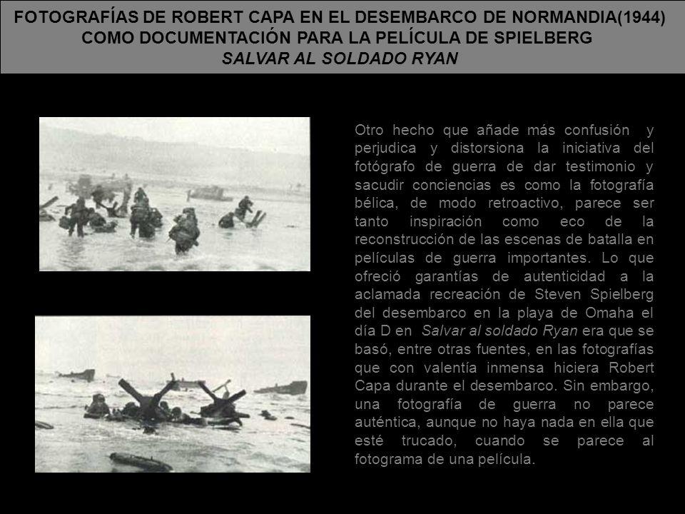 FOTOGRAFÍAS DE ROBERT CAPA EN EL DESEMBARCO DE NORMANDIA(1944)