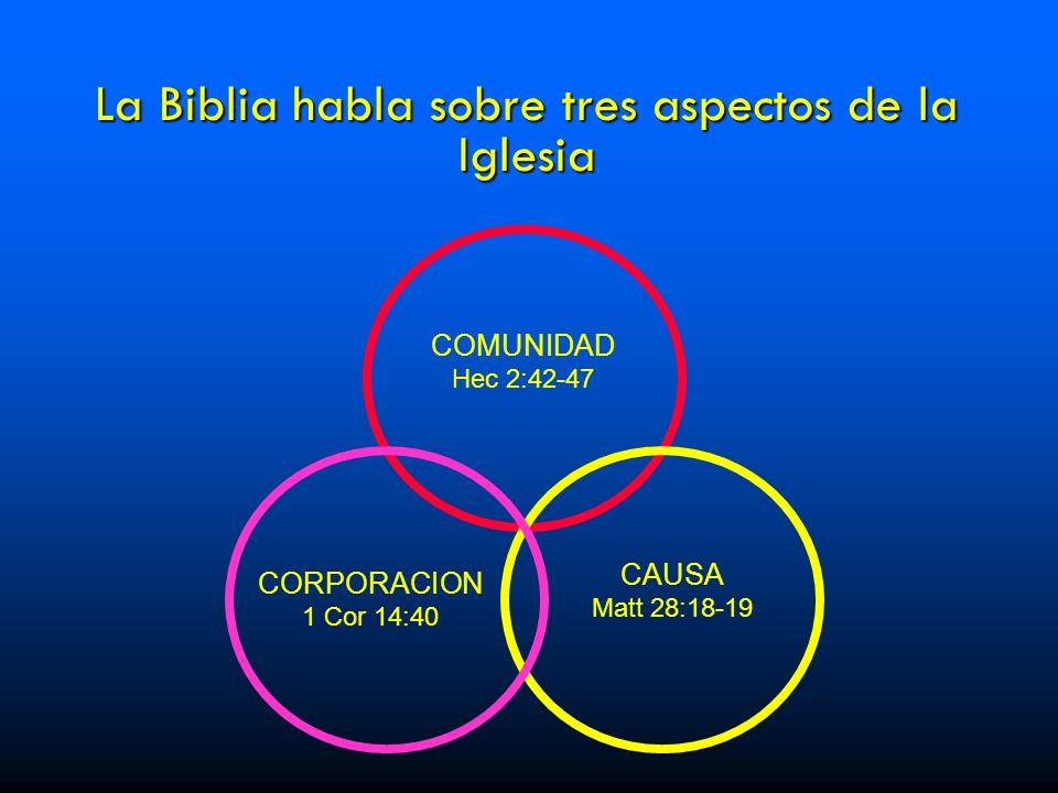 La Biblia habla sobre tres aspectos de la Iglesia