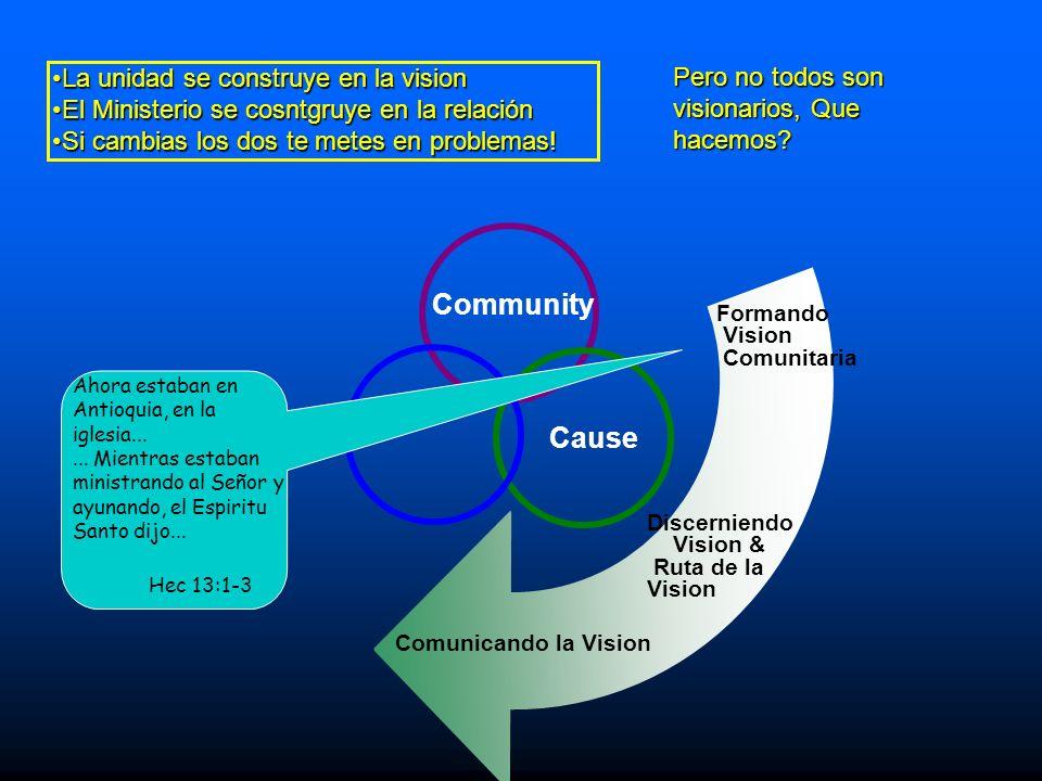 Community Cause La unidad se construye en la vision