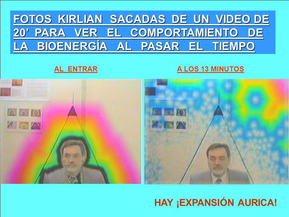 FOTOS KIRLIAN SACADAS DE UN VIDEO DE 20' PARA VER EL COMPORTAMIENTO DE LA BIOENERGÍA AL PASAR EL TIEMPO