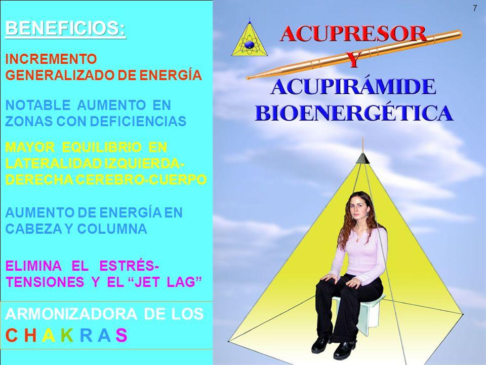 BENEFICIOS: ARMONIZADORA DE LOS C H A K R A S