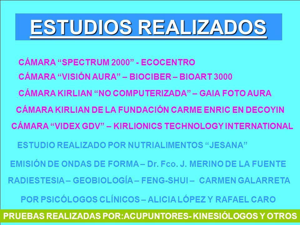 ESTUDIOS REALIZADOS CÁMARA SPECTRUM 2000 - ECOCENTRO