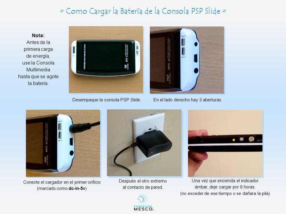 • Como Cargar la Batería de la Consola PSP Slide •