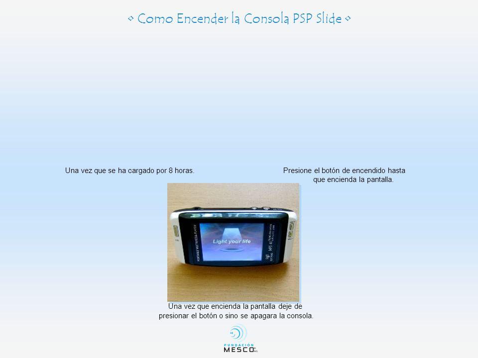 • Como Encender la Consola PSP Slide •
