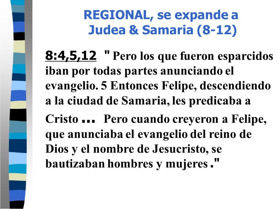 REGIONAL, se expande a Judea & Samaria (8-12)