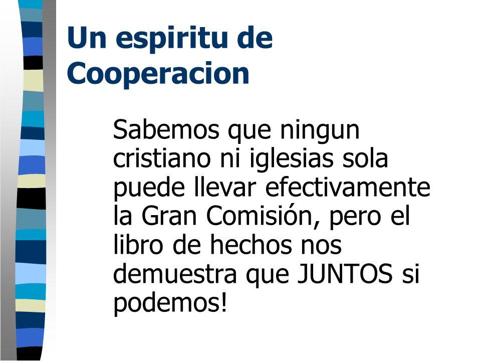 Un espiritu de Cooperacion