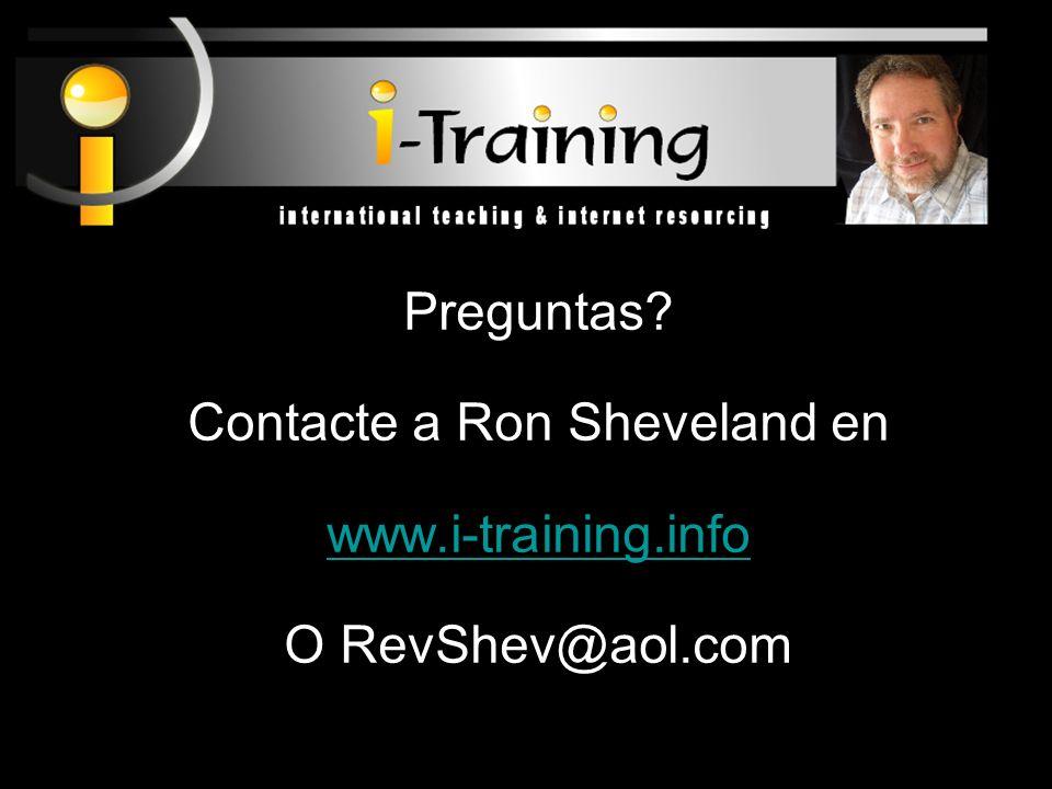 Contacte a Ron Sheveland en