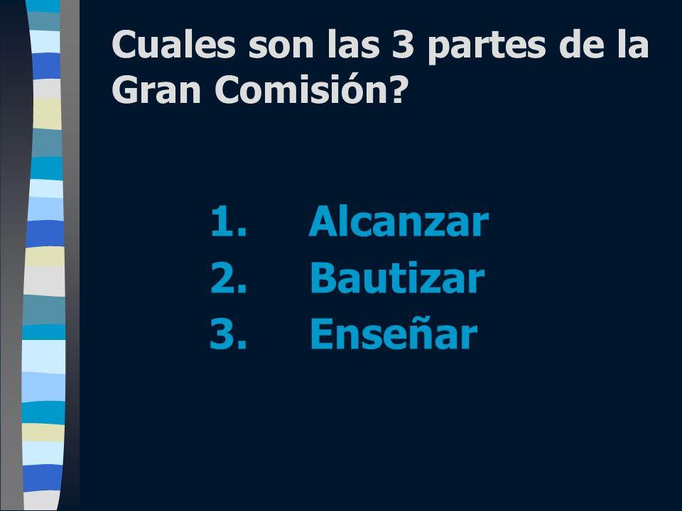 Cuales son las 3 partes de la Gran Comisión