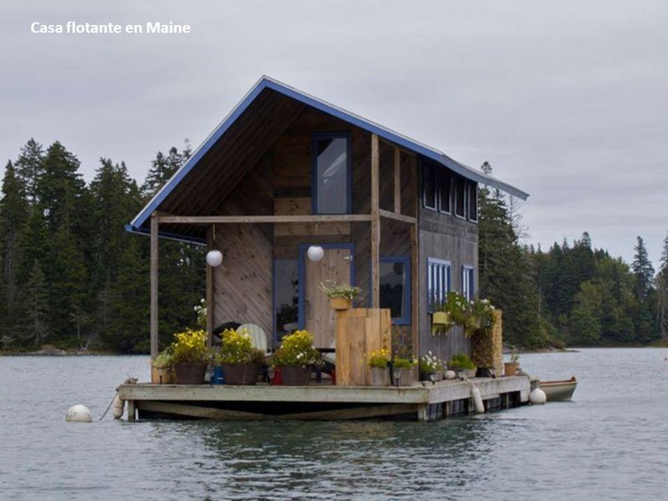 Casa flotante en Maine