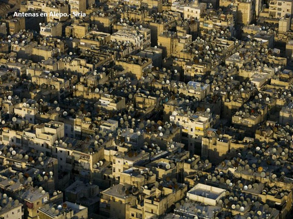 Antenas en Alepo.- Siria