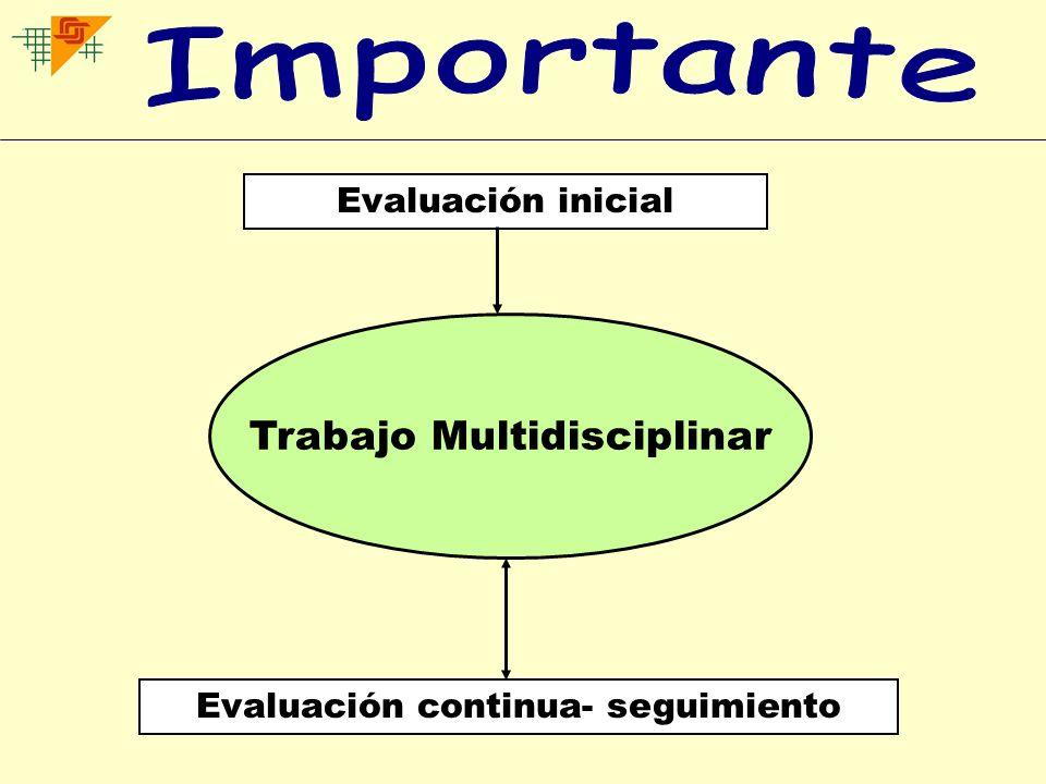 Importante Trabajo Multidisciplinar Evaluación inicial