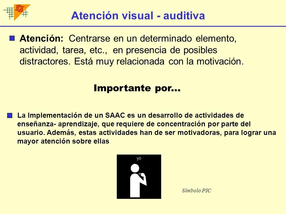 Atención visual - auditiva