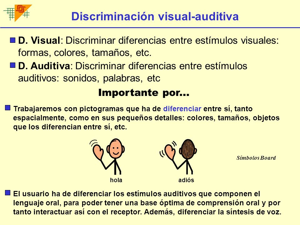 Discriminación visual-auditiva