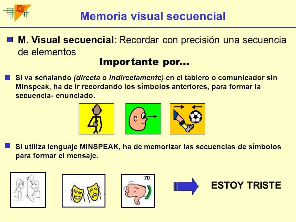 Memoria visual secuencial