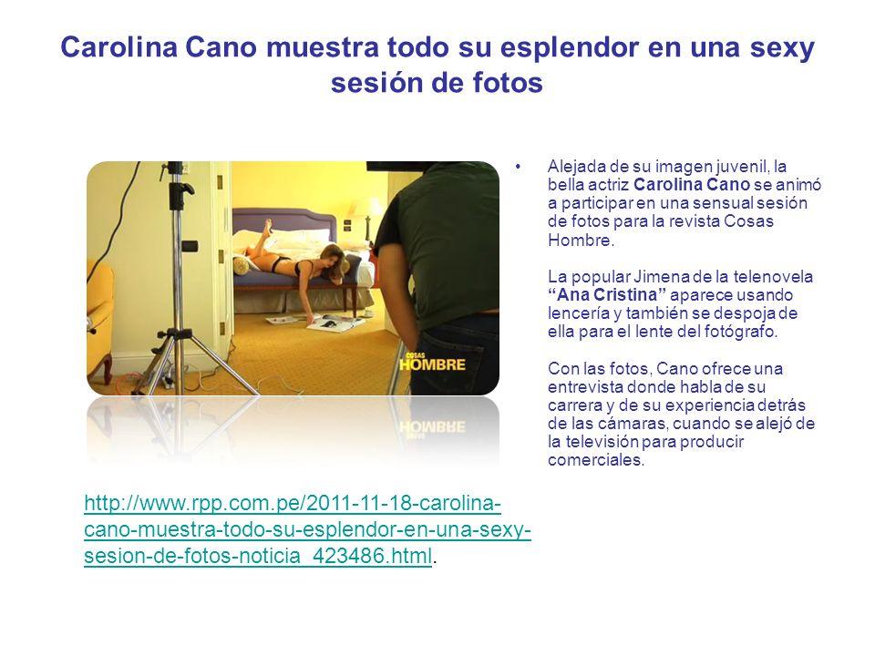 Carolina Cano muestra todo su esplendor en una sexy sesión de fotos