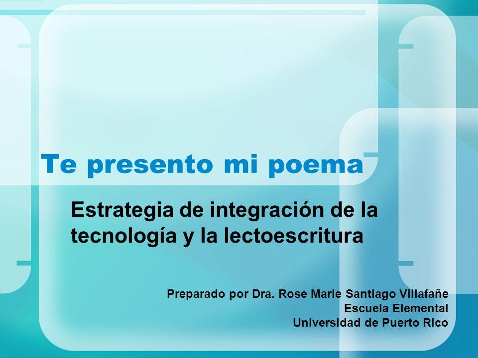 Estrategia de integración de la tecnología y la lectoescritura