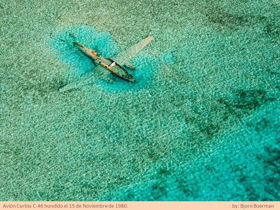 Avión Curtiss C-46 hundido el 15 de Noviembre de 1980