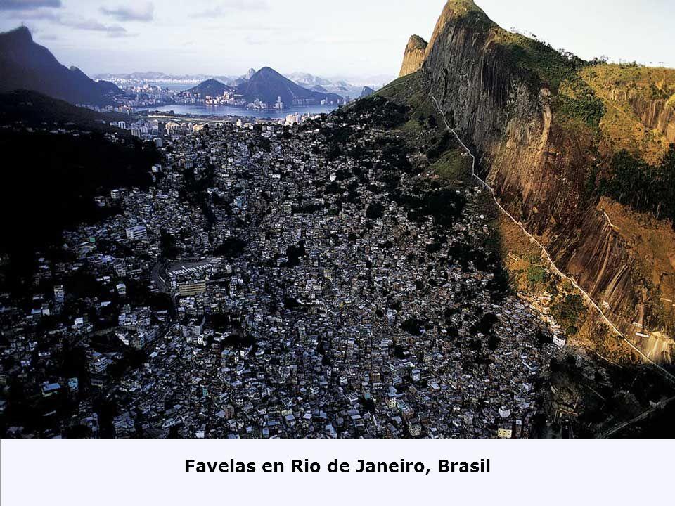 Favelas en Rio de Janeiro, Brasil