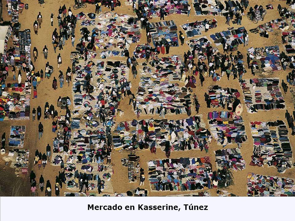 Mercado en Kasserine, Túnez