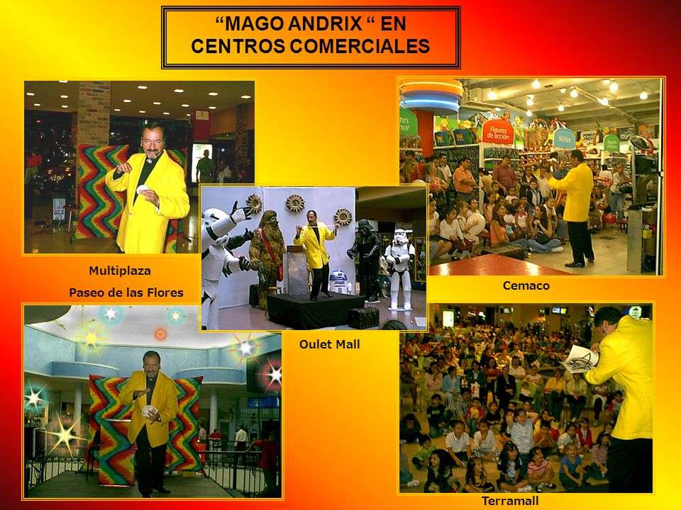 MAGO ANDRIX EN CENTROS COMERCIALES