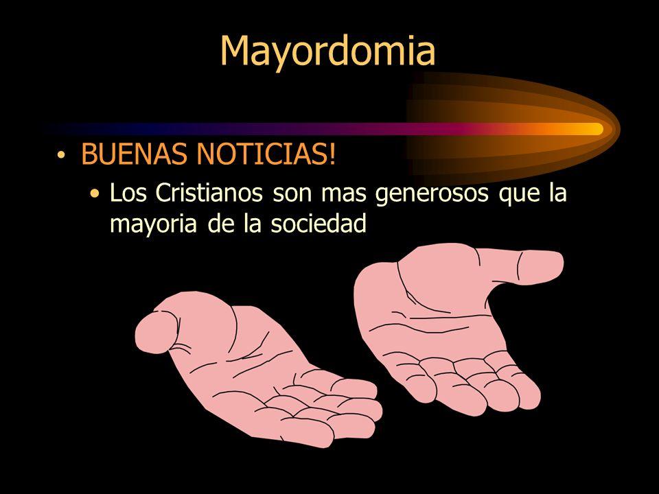 Mayordomia BUENAS NOTICIAS!