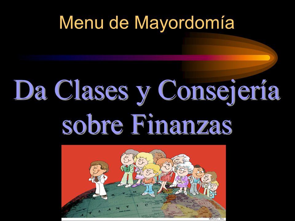 Da Clases y Consejería sobre Finanzas
