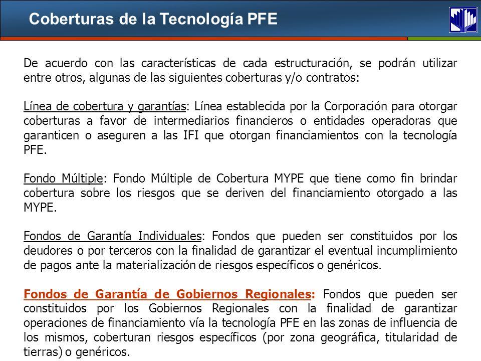 Coberturas de la Tecnología PFE