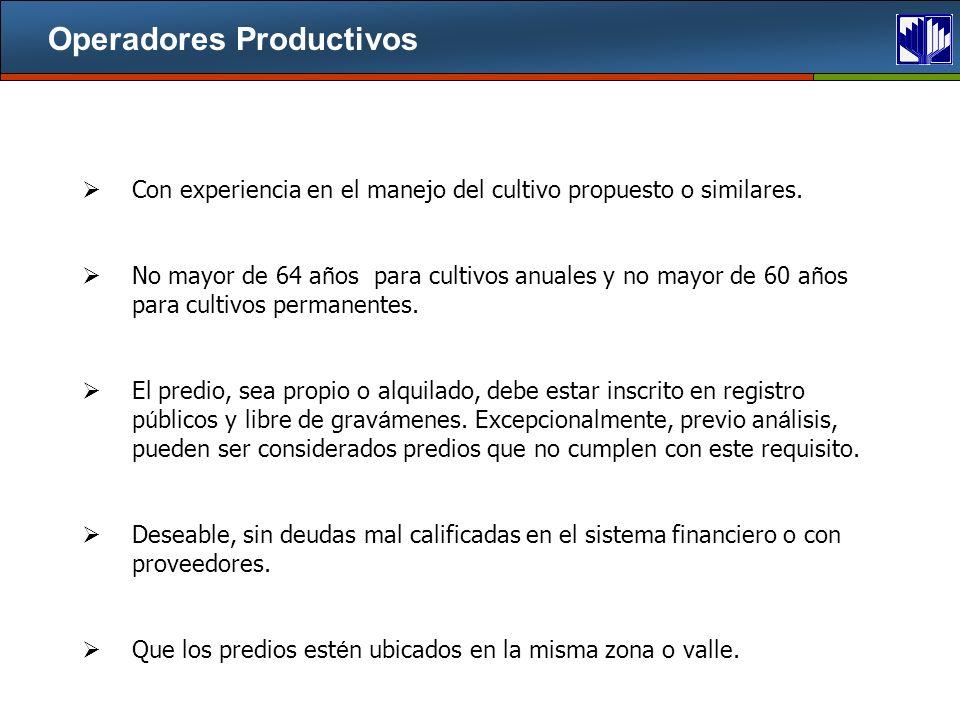Operadores Productivos