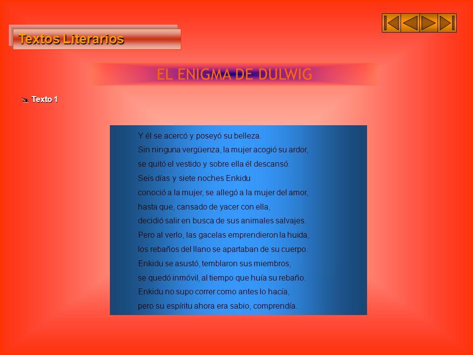 EL ENIGMA DE DULWIG Textos Literarios  Texto 1