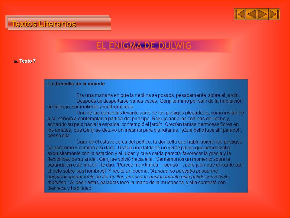 EL ENIGMA DE DULWIG Textos Literarios  Texto 7