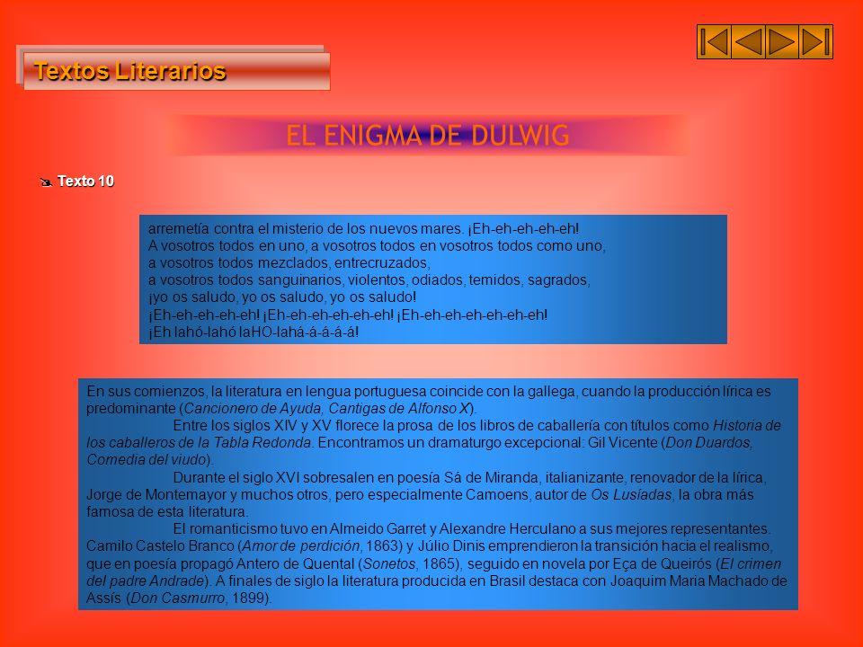 EL ENIGMA DE DULWIG Textos Literarios  Texto 10