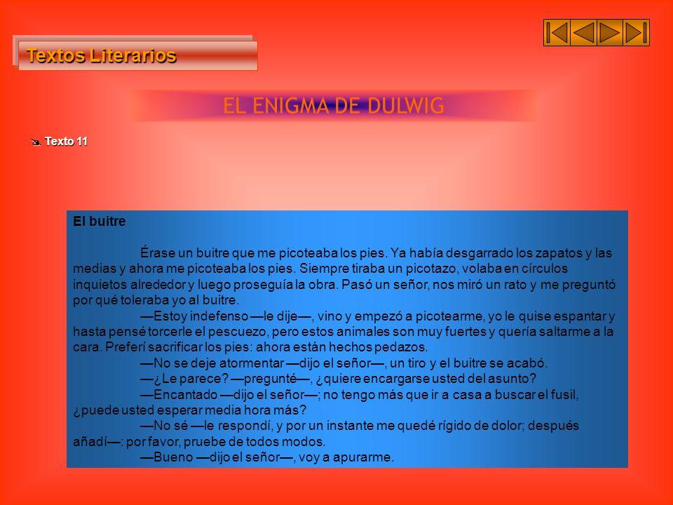 EL ENIGMA DE DULWIG Textos Literarios El buitre