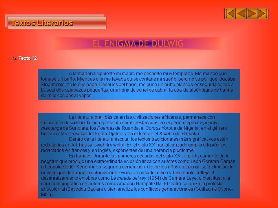 EL ENIGMA DE DULWIG Textos Literarios  Texto 12