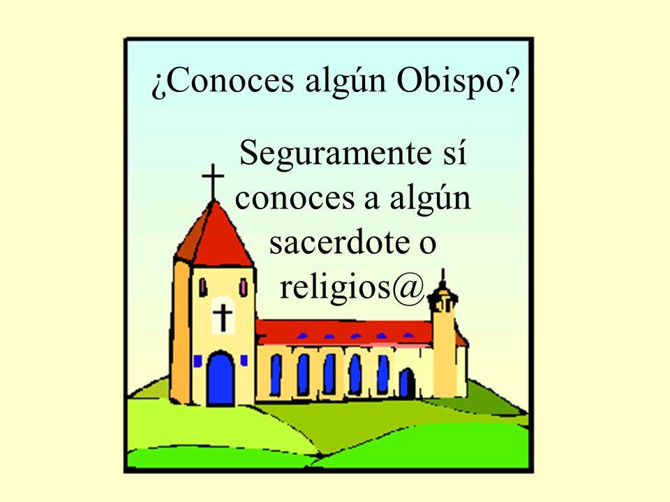 Seguramente sí conoces a algún sacerdote o religios@