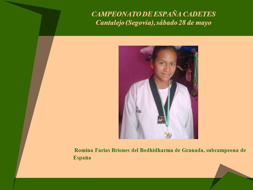 CAMPEONATO DE ESPAÑA CADETES Cantalejo (Segovia), sábado 28 de mayo