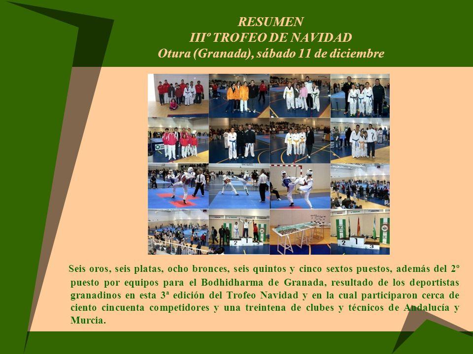 RESUMEN IIIº TROFEO DE NAVIDAD Otura (Granada), sábado 11 de diciembre