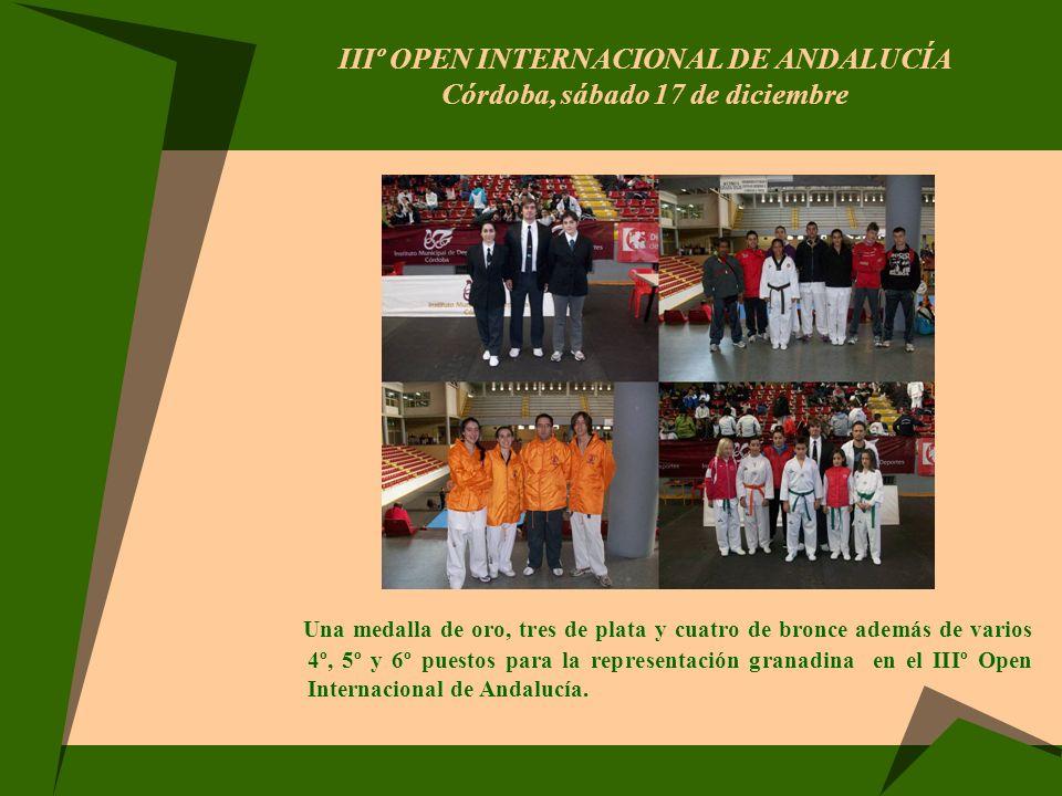 IIIº OPEN INTERNACIONAL DE ANDALUCÍA Córdoba, sábado 17 de diciembre