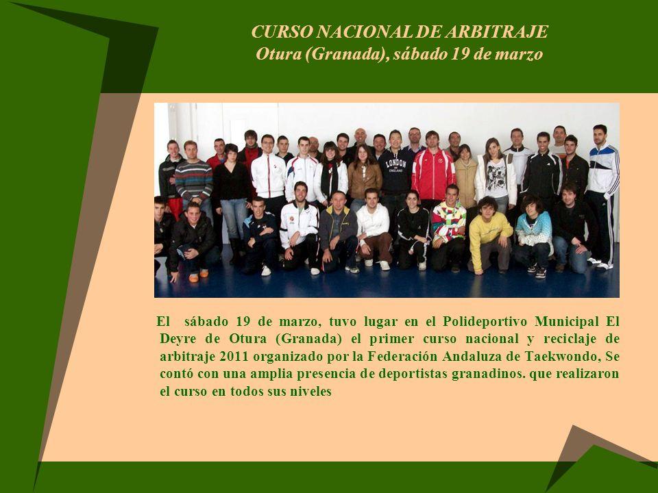 Curso Nacional de Arbitraje Otura (Granada), sábado 19 de marzo