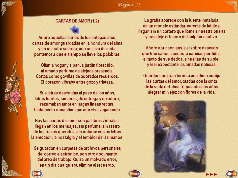 25 La grafía aparece con la fuente instalada, CARTAS DE AMOR (1/2)