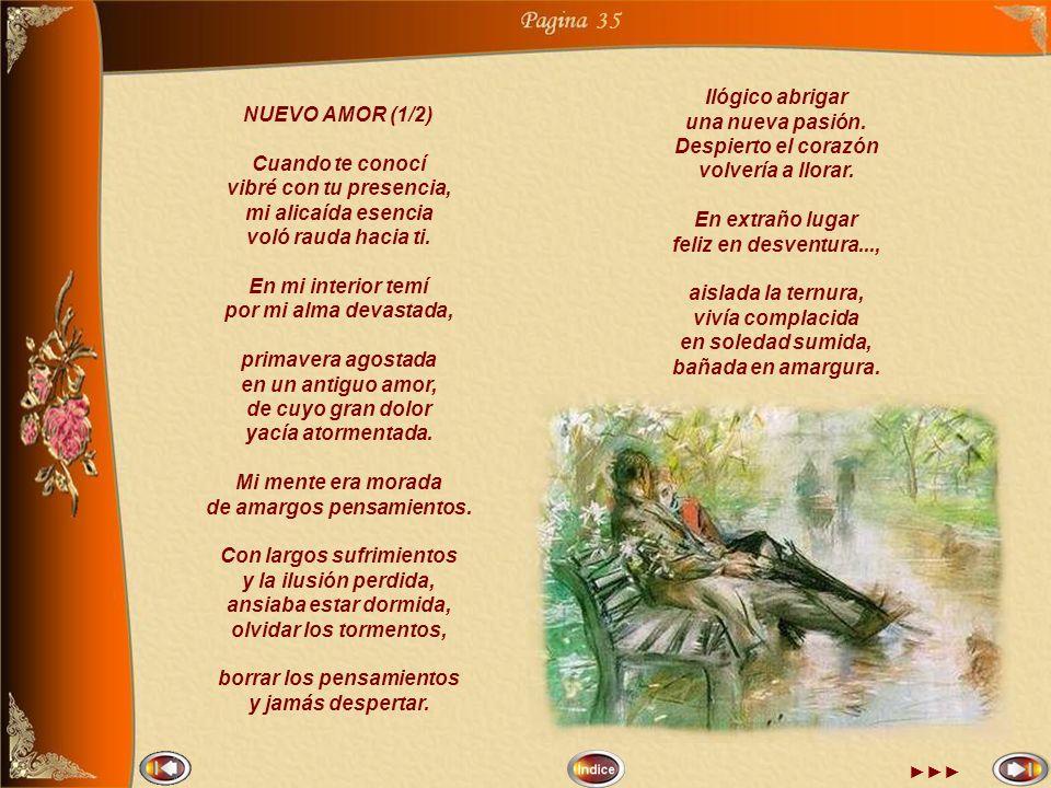 35 Ilógico abrigar una nueva pasión. NUEVO AMOR (1/2)
