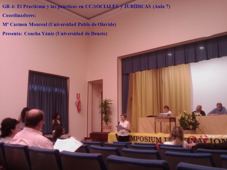 GR-4: El Practicum y las prácticas en CC.SOCIALES y JURÍDICAS (Aula 7)