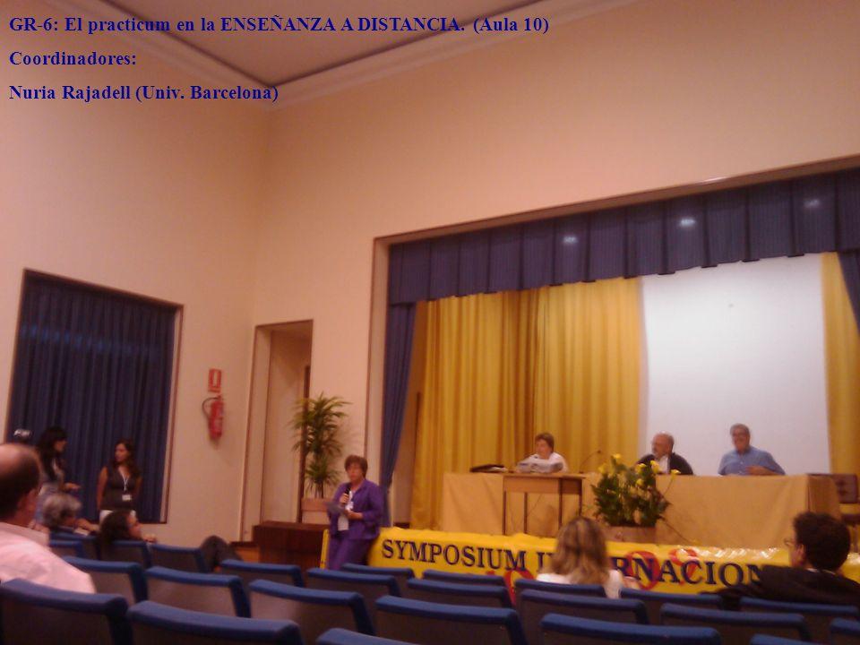 GR-6: El practicum en la ENSEÑANZA A DISTANCIA. (Aula 10)