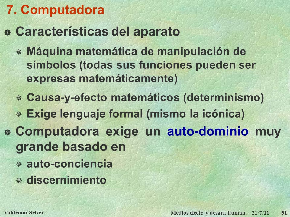 Características del aparato