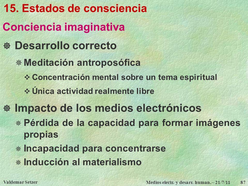 15. Estados de consciencia